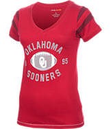 Women's Camp David Oklahoma Sooners College Kailey V-Neck T-Shirt