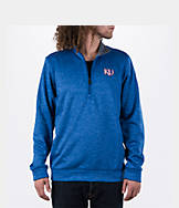 Men's adidas Kansas Jayhawks College Climawarm Team Issue Quarter-Zip Pullover