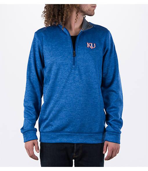 Men's adidas Kansas Jayhawks College Climawarm Team Issue Quarter-Zip Pullover
