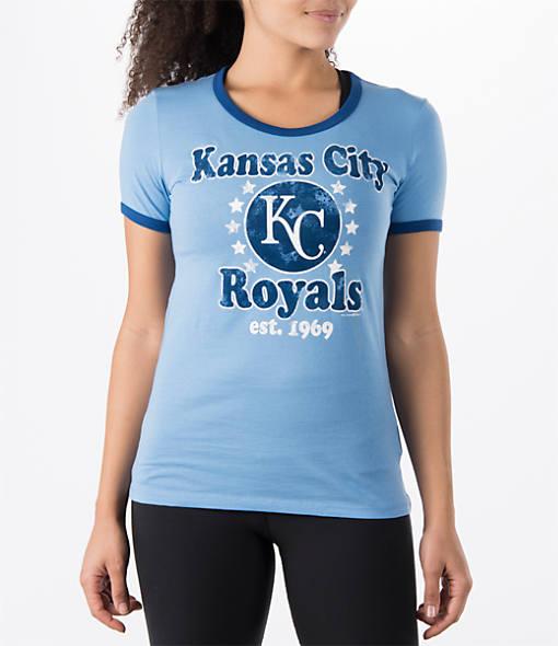 Women's New Era Kansas City Royals MLB Vintage Ringer T-Shirt