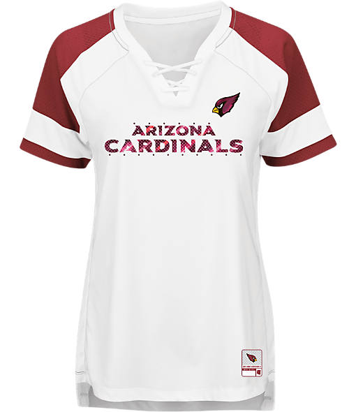 Women's Majestic Arizona Cardinals NFL Draft Me Lace T-Shirt