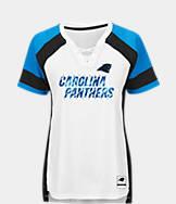 Women's Majestic Carolina Panthers NFL Draft Me Lace T-Shirt