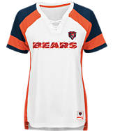 Women's Majestic Chicago Bears NFL Draft Me Lace T-Shirt