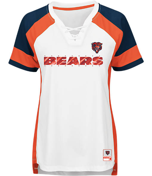Women's Majestic Chicago Bears NFL Draft Me Lace T-Shirt