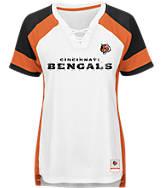 Women's Majestic Cincinnati Bengals NFL Draft Me Lace T-Shirt