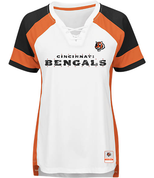 Women's Majestic Cincinnati Bengals NFL Draft Me Lace T-Shirt