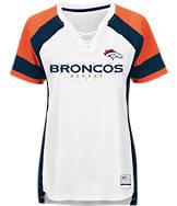 Women's Majestic Denver Broncos NFL Draft Me Lace T-Shirt