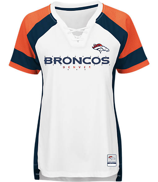 Women's Majestic Denver Broncos NFL Draft Me Lace T-Shirt