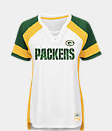 Women's Majestic Green Bay Packers NFL Draft Me Lace T-Shirt