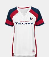 Women's Majestic Houston Texans NFL Draft Me Lace T-Shirt