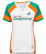 Women's Majestic Miami Dolphins NFL Draft Me Lace T-Shirt
