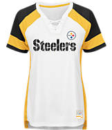Women's Majestic Pittsburgh Steelers NFL Draft Me Lace T-Shirt