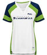 Women's Majestic Seattle Seahawks NFL Draft Me Lace T-Shirt