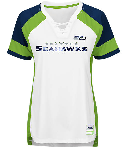 Women's Majestic Seattle Seahawks NFL Draft Me Lace T-Shirt