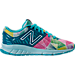 Right view of Girls' Preschool New Balance 200 v1 Running Shoes in Blue/Multi