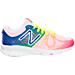 Right view of Girls' Preschool New Balance 200 v1 Running Shoes in Rainbow/White