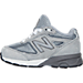 Left view of Boys' Toddler New Balance 990 V4 Running Shoes in Grey/Grey