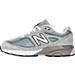 Left view of Boys' Preschool New Balance 990 V4 Running Shoes in Grey/Grey