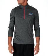 Men's Majestic Buffalo Bills NFL Intimidating Half-Zip Training Shirt