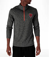 Men's Majestic Chicago Bears NFL Intimidating Half-Zip Training Shirt