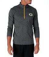 Men's Majestic Green Bay Packers NFL Intimidating Half-Zip Training Shirt