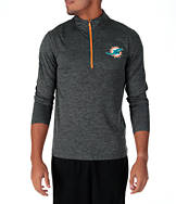 Men's Majestic Miami Dolphins NFL Intimidating Half-Zip Training Shirt