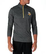 Men's Majestic Minnesota Vikings NFL Intimidating Half-Zip Training Shirt