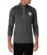Men's Majestic Pittsburgh Steelers NFL Intimidating Half-Zip Training Shirt