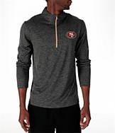 Men's Majestic San Francisco 49ers NFL Intimidating Half-Zip Training Shirt