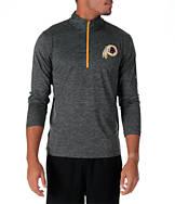 Men's Majestic Washington Redskins NFL Intimidating Half-Zip Training Shirt