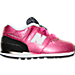Right view of Girls' Toddler New Balance 574 Gradiant Casual Shoe in Pink/Black/White