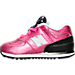 Left view of Girls' Toddler New Balance 574 Gradiant Casual Shoe in Pink/Black/White