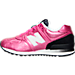 Left view of Girls' Preschool New Balance 574 Gradient Casual Shoe in Pink/Black/White