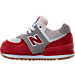 Left view of Boys' Toddler New Balance 574 Casual Shoes in Red/White