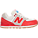 Right view of Boys' Preschool New Balance 574 Casual Shoes in Red/White