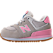 Left view of Girls' Toddler New Balance 574 Casual Shoes in
