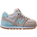 Right view of Girls' Toddler New Balance 574 Casual Shoes in Teal/White
