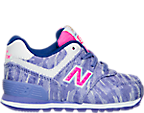 Girls' Toddler New Balance 574 Summer Waves Casual Shoes