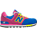 Right view of Girls' Preschool New Balance 574 Casual Shoes in Pink/Blue