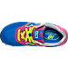 Top view of Girls' Preschool New Balance 574 Casual Shoes in Pink/Blue