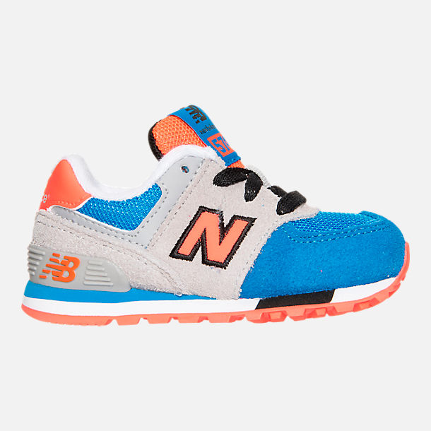 Right view of Boys' Toddler New Balance 574 Casual Shoes in Grey/Blue