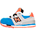 Left view of Boys' Toddler New Balance 574 Casual Shoes in Grey/Blue