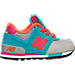 Right view of Girls' Toddler New Balance 574 Casual Shoes in Grey/Teal