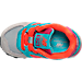 Top view of Girls' Toddler New Balance 574 Casual Shoes in Grey/Teal