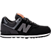 Right view of Boys' Grade School New Balance 574 Casual Shoes in Black/White