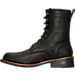Left view of Men's KLR Pat Lace-Up Boots in Black