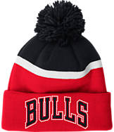 adidas Chicago Bulls NBA Stripe Pom Knit Hat