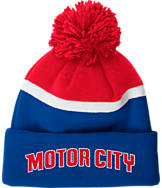 adidas Detroit Pistons NBA Stripe Pom Knit Hat