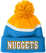 adidas Denver Nuggets NBA Stripe Pom Knit Hat