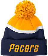 adidas Indiana Pacers NBA Stripe Pom Knit Hat